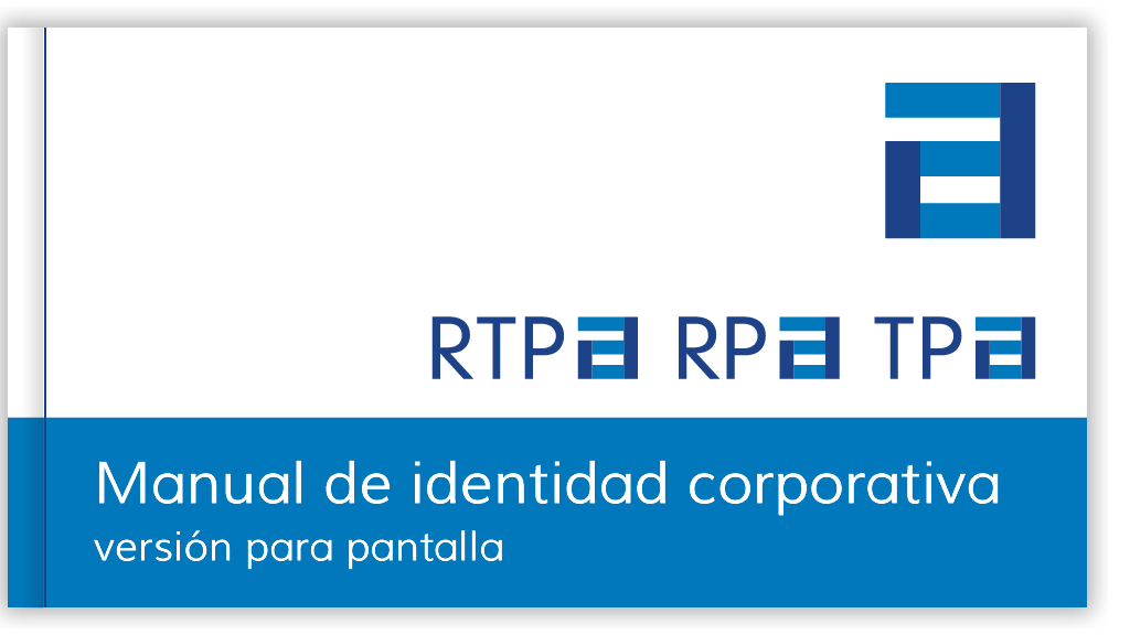 Portada del manual de identidad corporativa de la RTPA, descarga de fichero